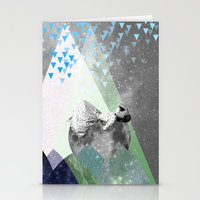 rain Stationery Cards featuring RAIN by Ceren Kilic