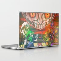 majoras mask Laptop & iPad Skins featuring Legend of Zelda Majoras Mask by LuisIPT