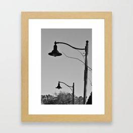 Street Lamps Framed Art Print