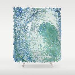 Amazonite Waves Surf Juul art Shower Curtain