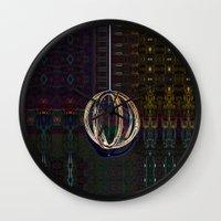 globe Wall Clocks featuring Bubble Globe by Khana's Web