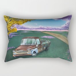 Flower Truck Rectangular Pillow