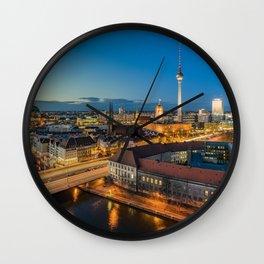 Berlin Blues Wall Clock
