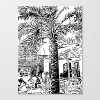 palm tree Canvas Prints featuring Palm tree by ArteGo