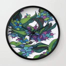 Purple Hydrangea Wall Clock