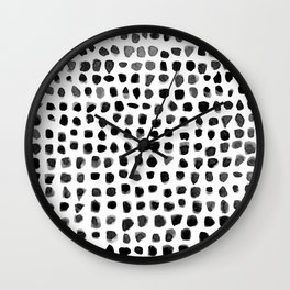 Dots (Black) Wall Clock