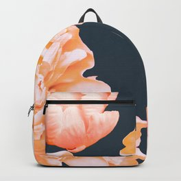 Peach Colored Flowers Dark Background #decor #society6 #buyart Backpack