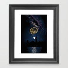 Moon Light Ride Framed Art Print