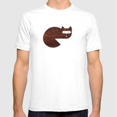 Minanimals: Fox White SMALL Mens Fitted Tee