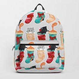 Kittens in Christmas Stockings Backpack
