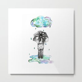 It's the Rain Metal Print