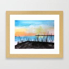 Oak Island at Sunset Framed Art Print