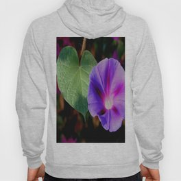 Beautiful Single Morning Glory Flower and Leaf Hoody