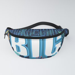 Self motivation series to dream big flower text pattern Fanny Pack