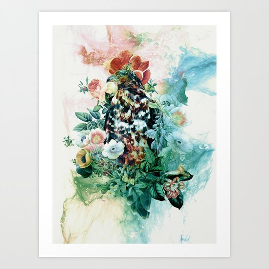 Bird in Flowers Art Print
