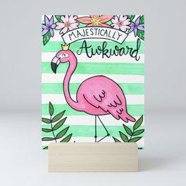 Awkward Flamingo Mini Art Print