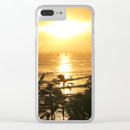 Golden Sunsets Clear iPhone Case
