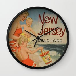 New Jersey Vintage Poster Wall Clock