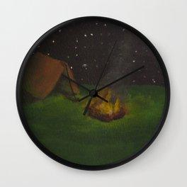 Camping Out Wall Clock