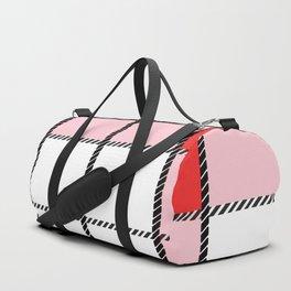 Red Plaid Duffle Bag