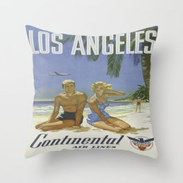 Vintage poster - Los Angeles Throw Pillow