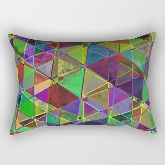 Tangled Triangles - Abstract, textured, geometric design Rectangular Pillow