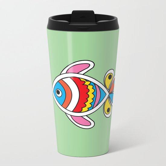 Color fish 1 Metal Travel Mug