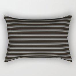 Black Ombre Stripes Rectangular Pillow