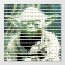 Yoda - StarWars - Pantone Swatch Art Canvas Print