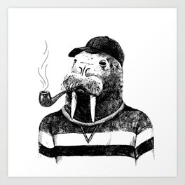 Walrus with a Pipe Art Print