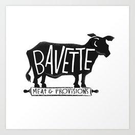 bavette Art Print