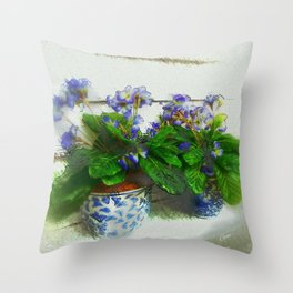"""""""Soothing Violets"""" Throw Pillow"""