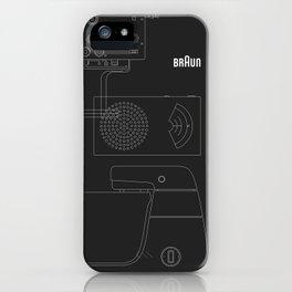 Braun design iPhone Case