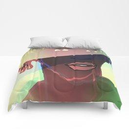 Ebony Coral Headdress Colors Comforters