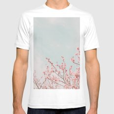 Waving in the Sky White MEDIUM Mens Fitted Tee
