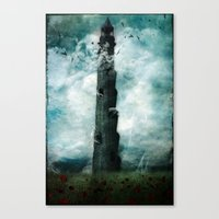 dark tower Canvas Prints featuring The Dark Tower by Sybille Sterk