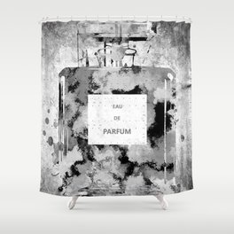 Perfume Black and White Shower Curtain