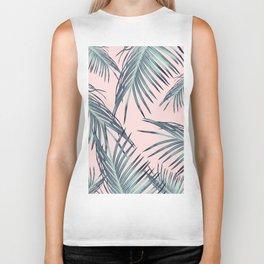 Blush Palm Leaves Dream #1 #tropical #decor #art #society6 Biker Tank