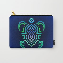Tribal Turtle Ombre Background Carry-All Pouch