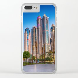 Lights, steel and glass Clear iPhone Case