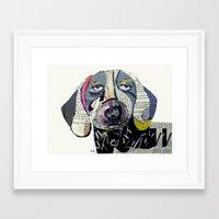 dachshund Framed Art Prints featuring dachshund  by bri.buckley
