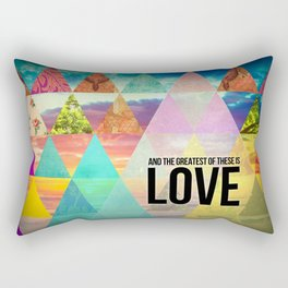 """1 Corinthians 13:13 """"And the greatest of these is Love"""" Rectangular Pillow"""