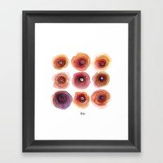 Nine Niles Framed Art Print