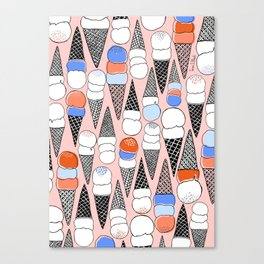 We All Scream, for ICE CREAM!!! Canvas Print