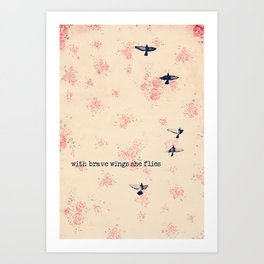 she flies Art Print