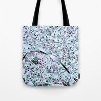 paris map Tote Bags featuring Paris map by Bekim ART