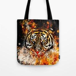 tiger head portrait wsb Tote Bag