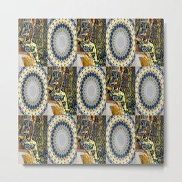 In Shape 33 (Wall with Mandala) Metal Print