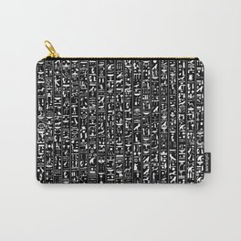 Hieroglyphics B&W INVERTED / Ancient Egyptian hieroglyphics pattern Carry-All Pouch