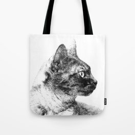 Profile of Stella the Grey (Cat) Tote Bag